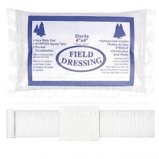 Compress Bandage, Field Dressing, 10.2 x 10.2 cm