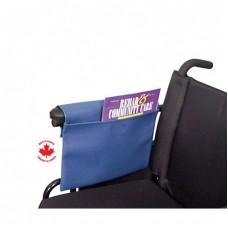 Leatherette Wheelchair/Walker Pouch Blue