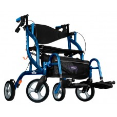 Airgo Fusion F23 side-folding walker and transport chair blue