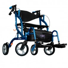 Airgo Fusion F20 side-folding walker and transport chair blue