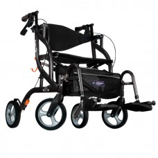 Airgo Fusion F20 side-folding walker and transport chair black