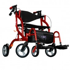 Airgo Fusion F20 side-folding walker and transport chair cranberry