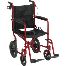 Drive Lightweight Expedition Transport Chair Red