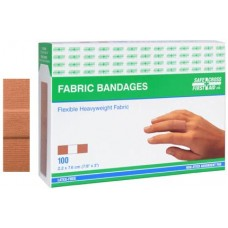 Fabric Bandages 2.2 x 7.6 cm Heavyweight 100/Box